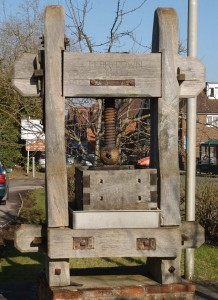 the old cider press at Horam on the Merrydown Site